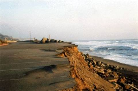 beach erosion a problem for all Coastal erosion is the wearing away of material from a coastal profile including the removal of beach, sand dunes, or sediment by wave action, tidal currents, wave currents, drainage or high winds (see also beach evolution.